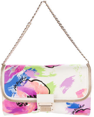 Jimmy Choo Jimmy Choo Zip-Accented Printed Shoulder Bag