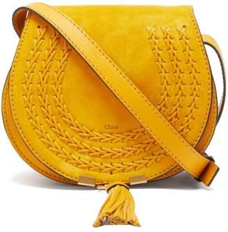 Chloé Marcie Mini Suede Cross Body Bag - Womens - Yellow