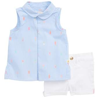 Kate Spade mini ice pops sleeveless top & denim shorts set