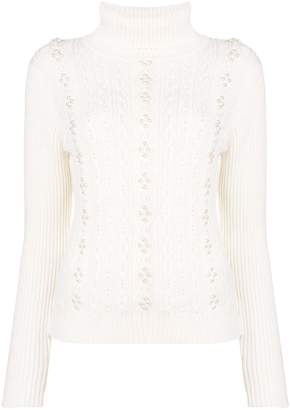 Edward Achour Paris faux-pearl embellished sweater