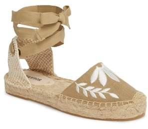 Soludos Embroidered Wraparound Espadrille Sandal