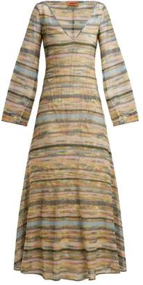 Missoni Striped Metallic Maxi Dress - Womens - Green Multi