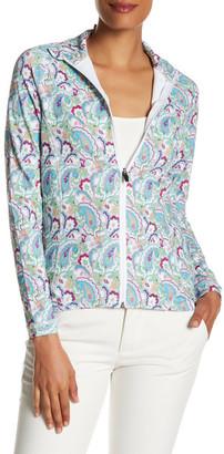 Peter Millar Tamara Paisley Print Full Zip Jacket $119.50 thestylecure.com
