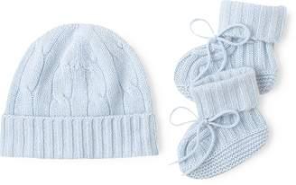 Ralph Lauren Cashmere Hat & Booties Set