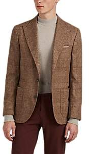 Brunello Cucinelli MEN'S ALPACA-BLEND GLEN PLAID THREE-BUTTON SPORTCOAT