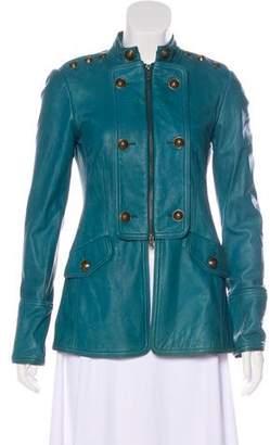 Diane von Furstenberg Arturo Lamb Leather Jacket