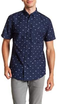 Visive Short Sleeve Shark Print Modern Fit Shirt