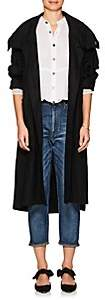 Pas De Calais Women's Linen Long Hooded Jacket - Black