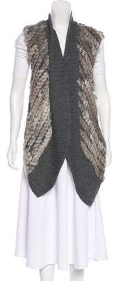 Twelfth Street By Cynthia Vincent Fur-Trimmed Wool Vest