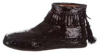 Marc Jacobs Marc Jacobs Sequined Fringe Booties