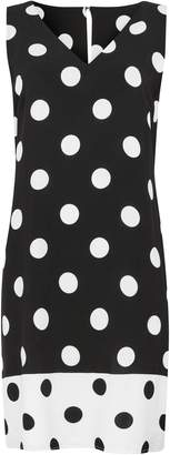 Wallis Black Polka Dot Print Shift Dress