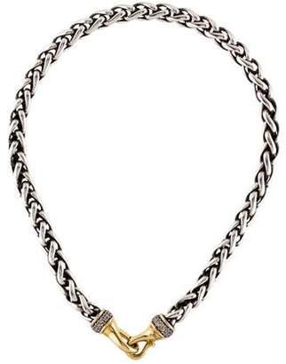 David Yurman Diamond Wheat Chain Necklace