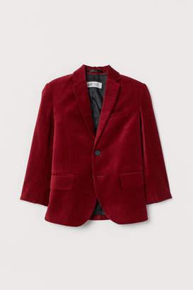 H&M Cotton velvet jacket