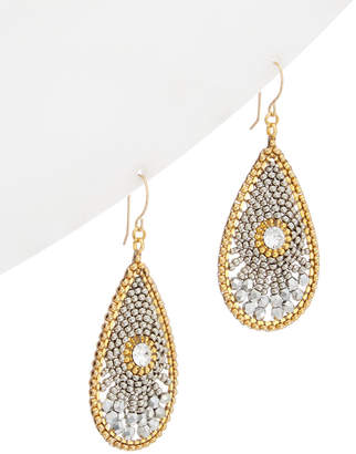 Miguel Ases 18K Plated & 14K Filled Crystal Drop Earrings