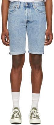 Levi's Levis Blue Denim 501 Original Cut-Off Shorts