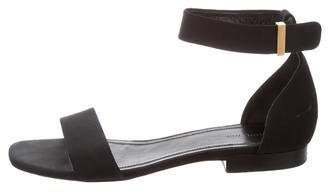 Celine Woven Ankle-Strap Sandals
