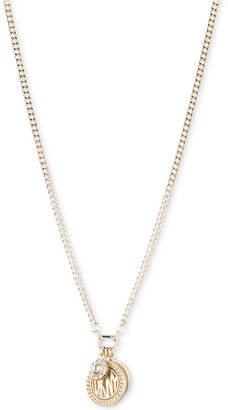 DKNY Three Charm Logo Pendant Necklace