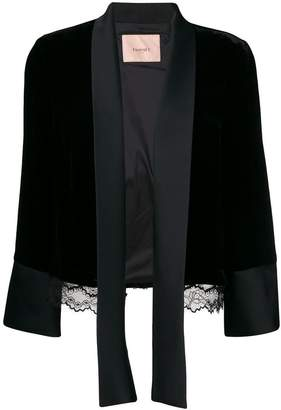 Twin-Set open front jacket