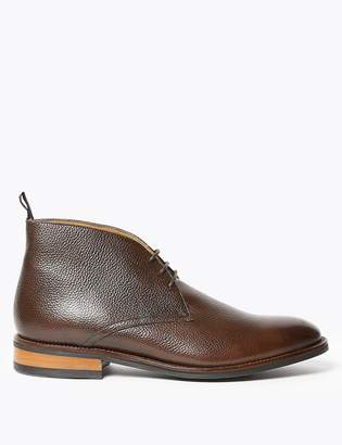M&S CollectionMarks and Spencer Leather Lace-up Chukka Boots