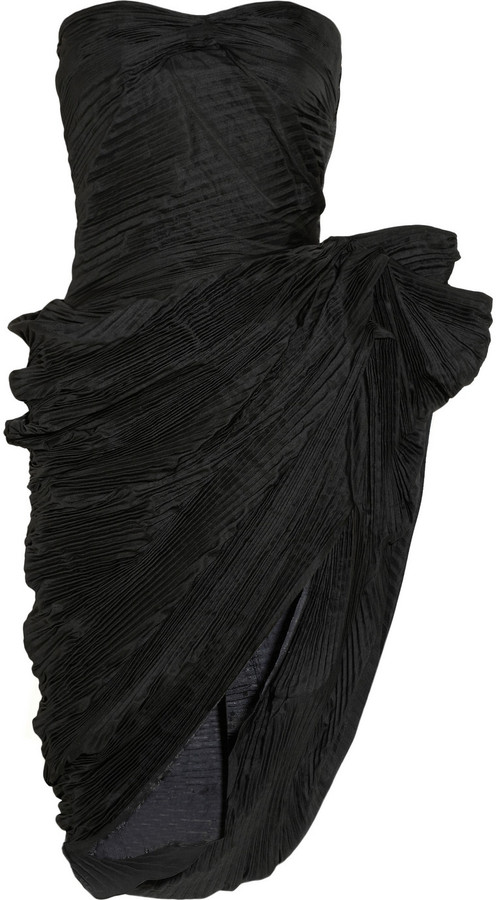 Lanvin Pleated taffeta dress