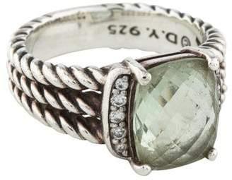 David Yurman Prasiolite & Diamond Petite Wheaton Ring