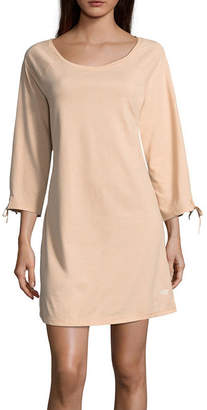 COPPER FIT Copper Fit Knit Long Sleeve Boat Neck Nightshirt