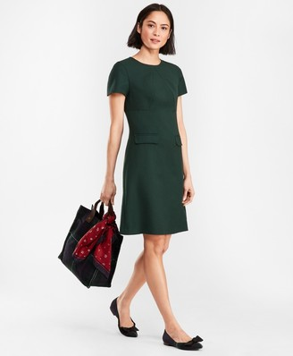 Brooks Brothers Double-Faced Stretch Wool Dress
