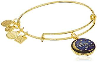 Alex and Ani Charity By Design Stellar Love Expandable Gold Wire Bangle Charm Bracelet