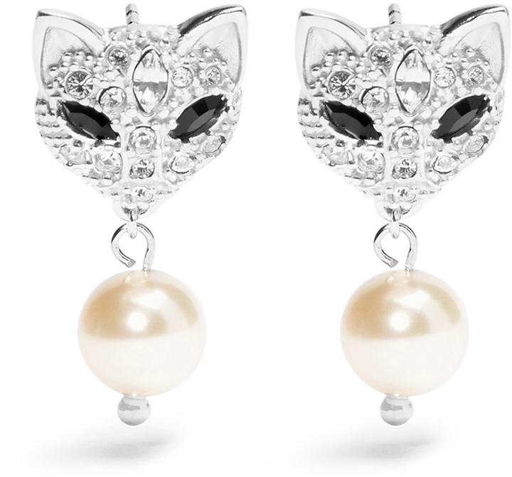 Miu MiuMIU MIU Cat crystal-embellished earrings