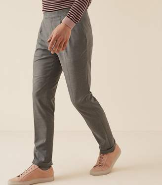 Reiss ROREY SLIM FIT TAILORED TROUSERS Grey