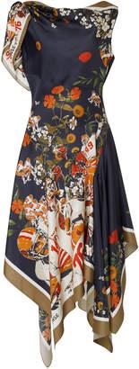 Monse Football Floral Off the Shoulder Dress