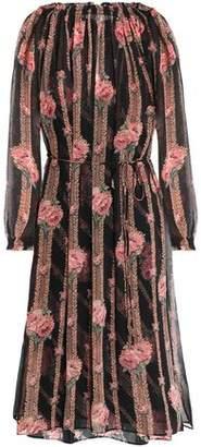 Needle & Thread Floral-Print Chiffon Dress