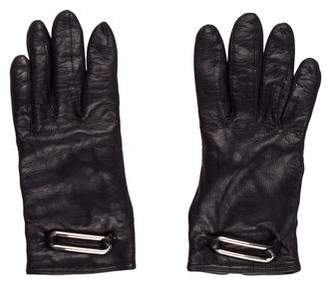 Calvin Klein Collection Leather Embellished Gloves