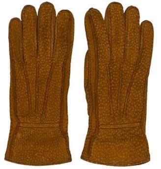 Loro Piana Suede Cashmere Gloves