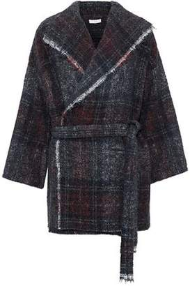 IRO Belted Marled Knitted Coat
