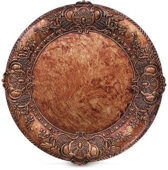 American Atelier Jay Imports Copper Embossed Charger Plate