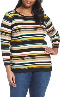 Vince Camuto Stripe Ribbed Sweater