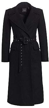 Theory Women's Perfect Belted Wool-Blend Trench Coat
