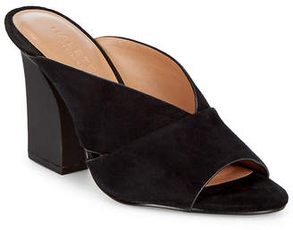 Halston Open Toe Leather Sandal