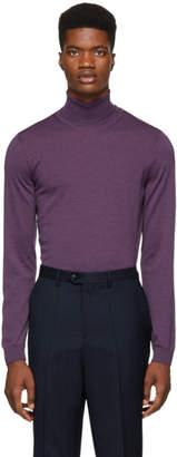 BOSS Purple Musso-P Turtleneck