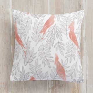 Cockatiel. Square Pillow
