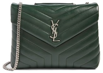 Saint Laurent Medium Loulou Calfskin Leather Shoulder Bag - Green $1,990 thestylecure.com