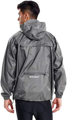 Baleaf Unisex Packable Outdoor Waterproof Rain Jacket Hooded Raincoat Poncho Size XL