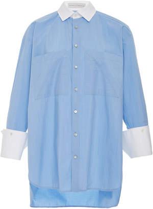 Palmer Harding palmer/harding palmer//harding Boyfriend Cotton-Poplin Button-Up Shirt
