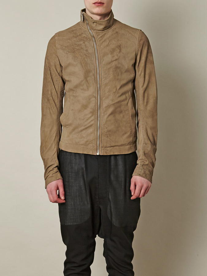 Rick Owens Leather Mollino bomber jacket
