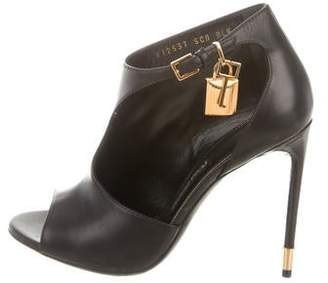 Tom Ford Leather Padlock Booties