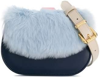 Âme Moi Naomi belt bag with rabbit fur