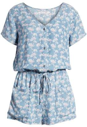 BILLY T Print Chambray Romper
