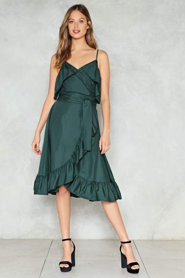 nastygal Wrap Up Ruffle Dress