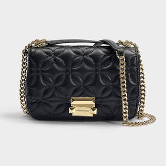 MICHAEL Michael Kors Sloan Small Chain Shoulder Bag In Black Quilted Lambskin